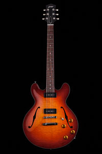 Collings I-35 LC Dark Cherry Sunburst Tortoise Binding