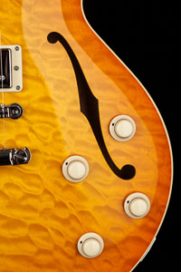 Collings SoCo Deluxe Amber Sunburst Quilt Top