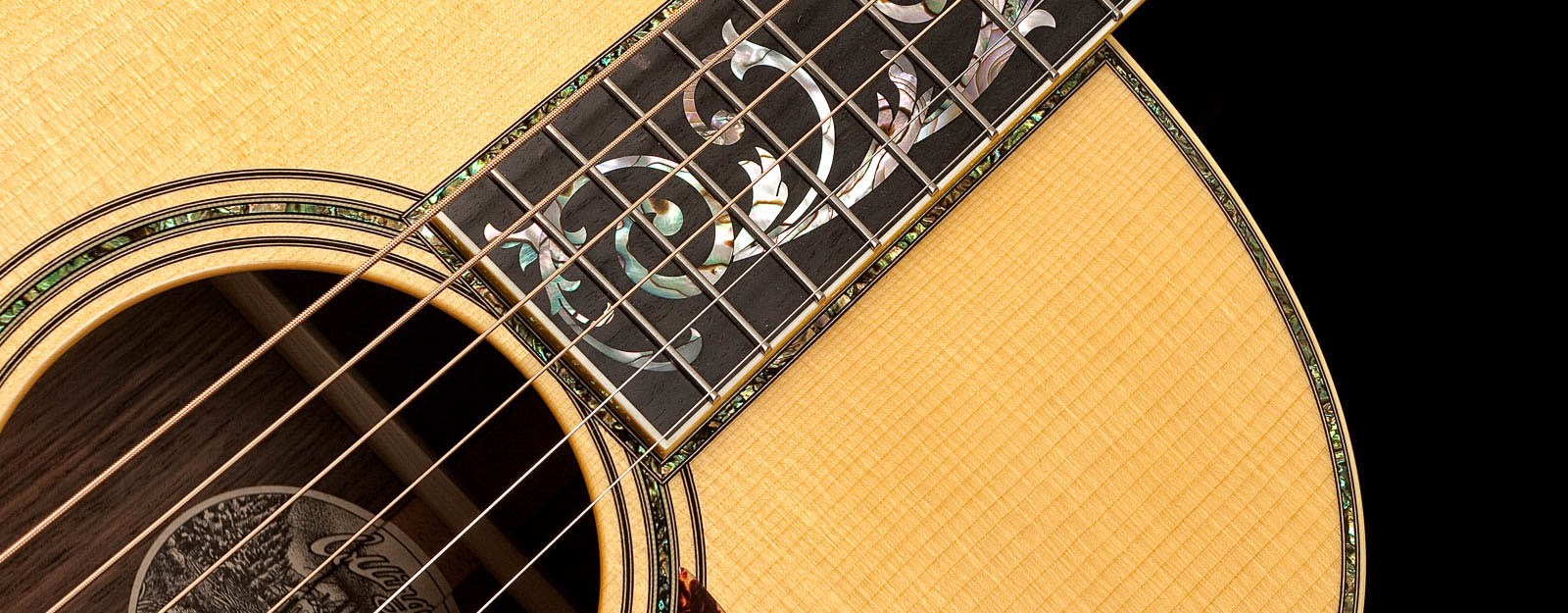 Custom Acoustic Guitar with Tree of Life Fingerboard Inlay
