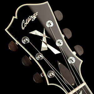 Collings Archtop Peghead with Broken Glass Inlay